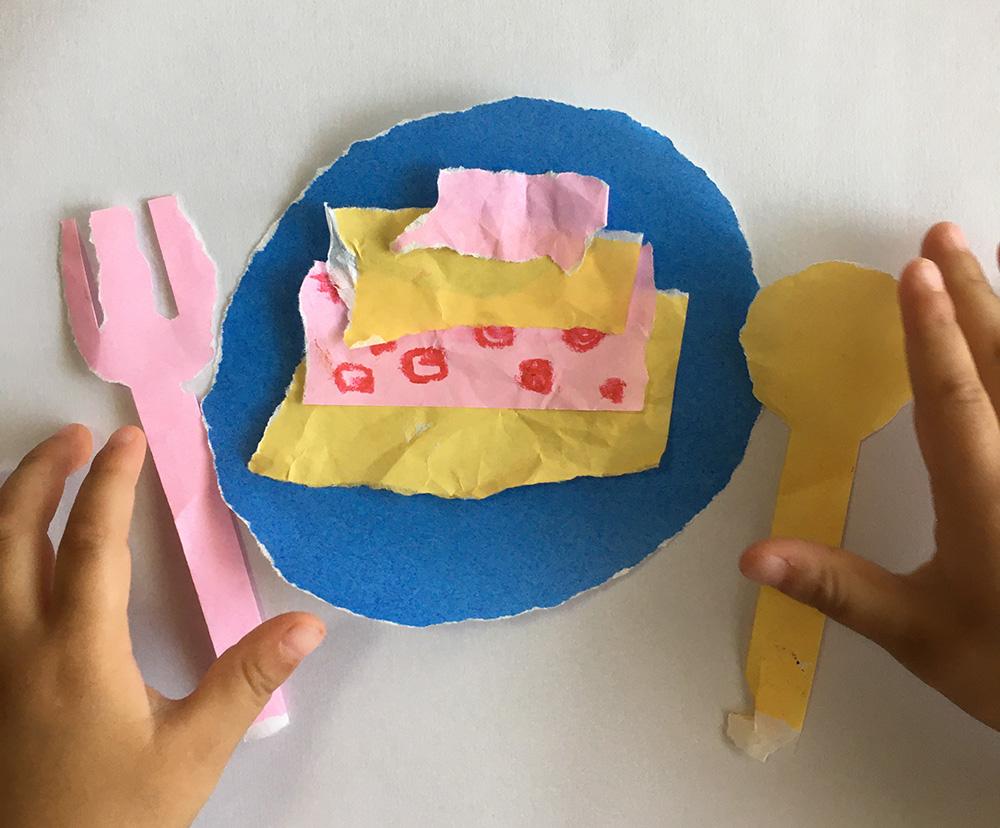 折り紙・おままごと・簡単・作り方・2歳・ケーキ